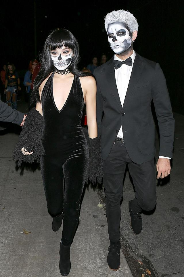 <p>For the actor/singer and her friend Cameron Smoller, Halloween was the night of the living dead! (Photo: AKM-GSI) </p>