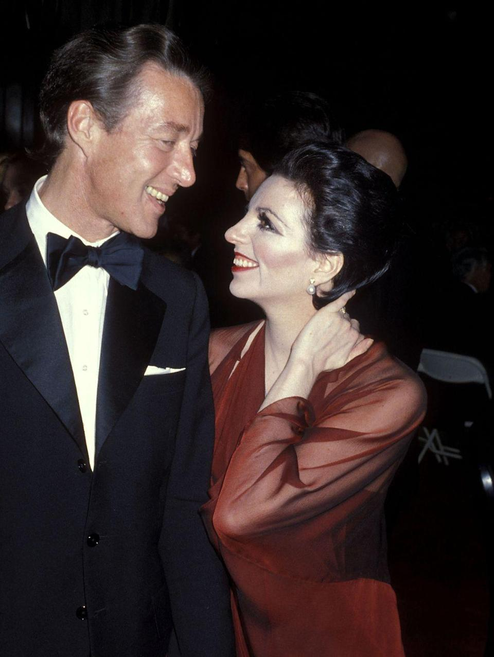 <p>Here, the fashion designer and Liza Minnelli are shown at the Martha Graham Dance Company Benefit Gala at the Metropolitan Opera House in Lincoln Center.</p>