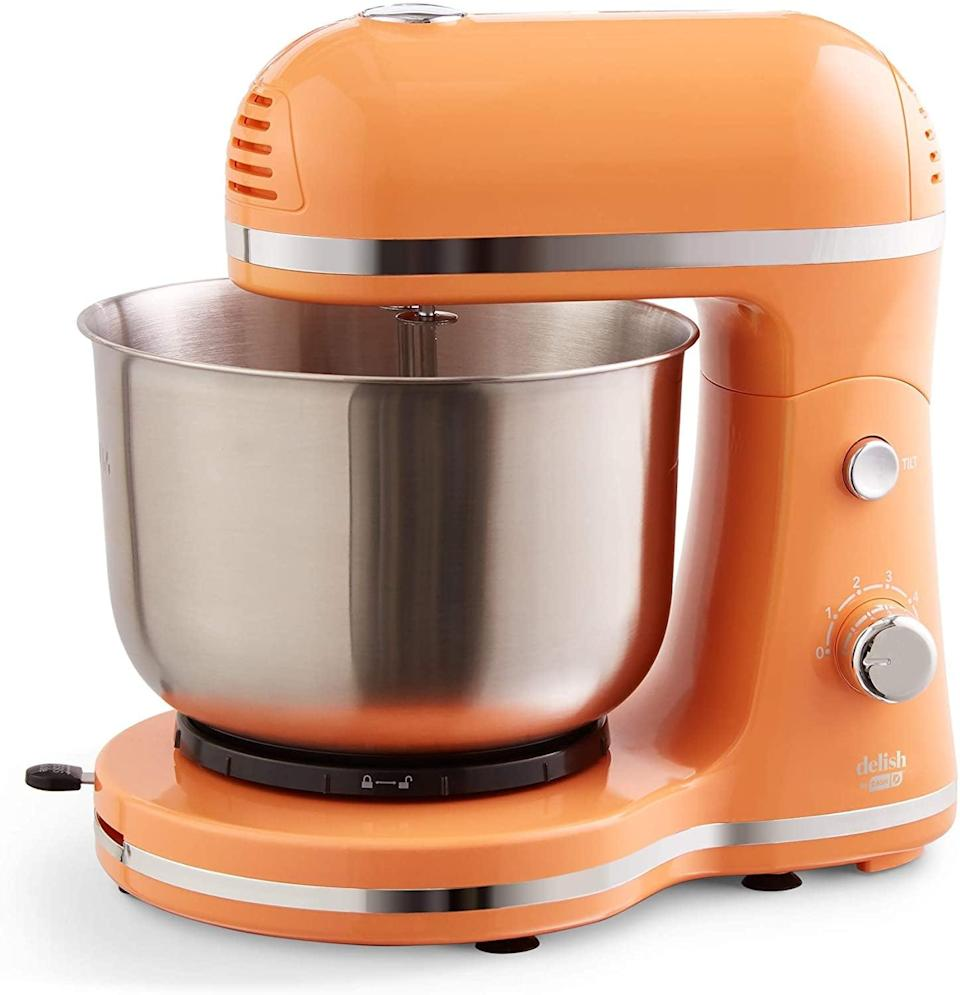 <p>The <span>Delish by Dash Compact Stand Mixer</span> ($41, originally $80) is the perfect assistant to all your baking adventures. It comes with beaters and dough hooks. It comes in a variety of colors and looks so stunning on your countertop. </p>