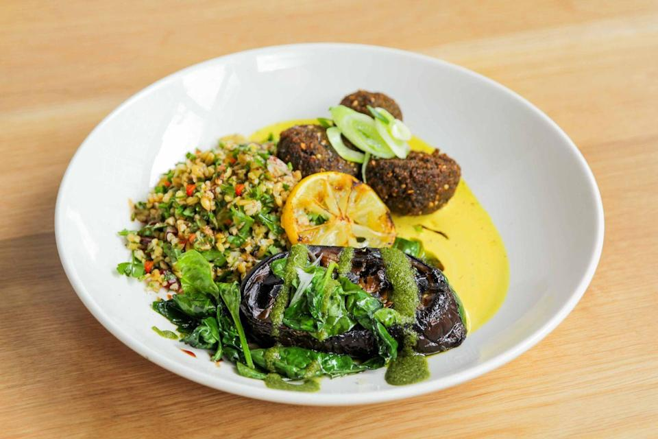 """<p>Around since the 1980s, every Soho worker knows about Mildred's. Whether you're looking for a spot of lunch or a candle lit dinner with friends, Mildred's is happy to oblige. </p><p>Focused on bringing vegan food from around the globe, they serve porcini arancini, mole frijoles, teriyaki chicken burgers, Sri Lankan curry and gochujang tofu. </p><p>For those with a sweet tooth, try their caramel cheesecake and spiced rum truffles.<br></p><p>For more info, <a href=""""http://www.mildreds.co.uk/"""" rel=""""nofollow noopener"""" target=""""_blank"""" data-ylk=""""slk:click here."""" class=""""link rapid-noclick-resp"""">click here.</a></p>"""