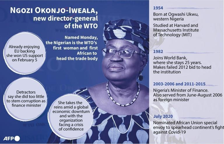 Ngozi Okonjo-Iweala named WTO head