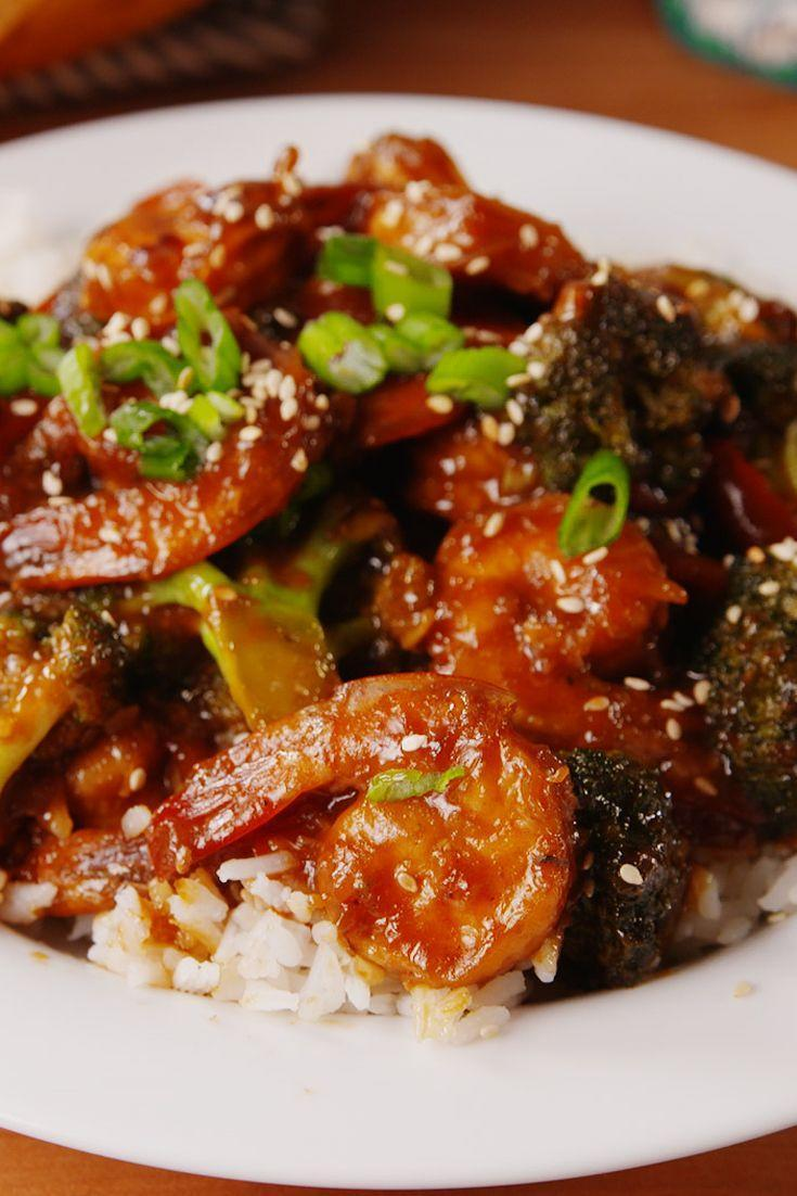 "<p>Shrimp it up.</p><p>Get the recipe from <a href=""https://www.delish.com/cooking/recipe-ideas/recipes/a51691/mongolian-shrimp-broccoli-recipe/"" rel=""nofollow noopener"" target=""_blank"" data-ylk=""slk:Delish"" class=""link rapid-noclick-resp"">Delish</a>.<br></p><p><em><strong><em><strong><a class=""link rapid-noclick-resp"" href=""https://www.amazon.com/Pyrex-Prepware-3-Piece-Glass-Mixing/dp/B00LGLHUA0/?tag=syn-yahoo-20&ascsubtag=%5Bartid%7C1782.g.241%5Bsrc%7Cyahoo-us"" rel=""nofollow noopener"" target=""_blank"" data-ylk=""slk:BUY NOW"">BUY NOW</a> Set of Pyrex Bowls, $12.50, amazon.com</strong></em></strong></em><br></p>"