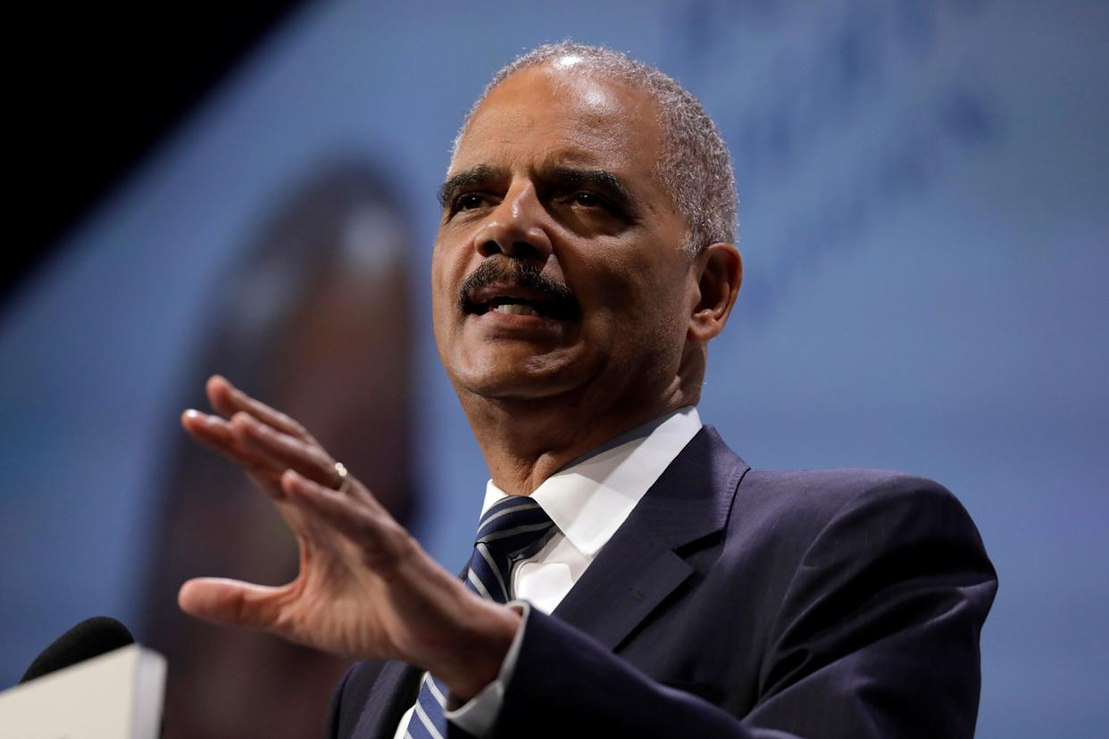 Former U.S. Attorney General Eric Holder took a more hard-line approach to Republican attacks. (Photo: Yuri Gripas / Reuters)