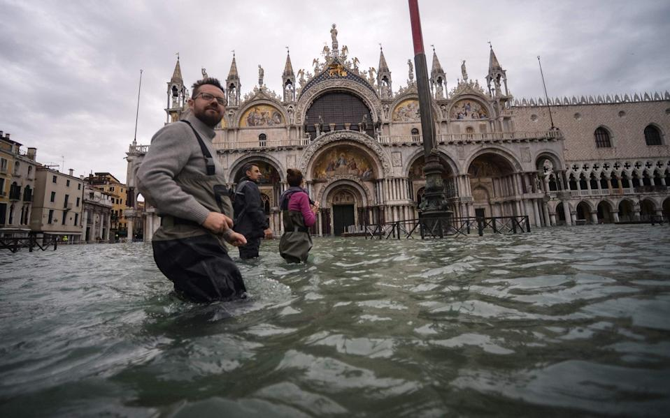 The mayor of Venice blamed recent flooding on climate change - AFP