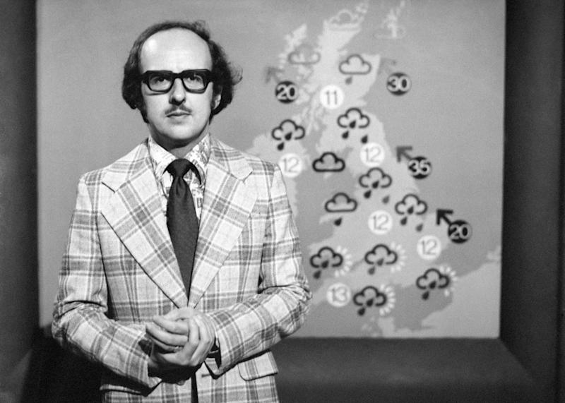 <strong>Weatherman Michael Fish, pictured during his first television appearance 20 years ago, says he would like a storm named after him</strong> (PA Images via Getty Images)
