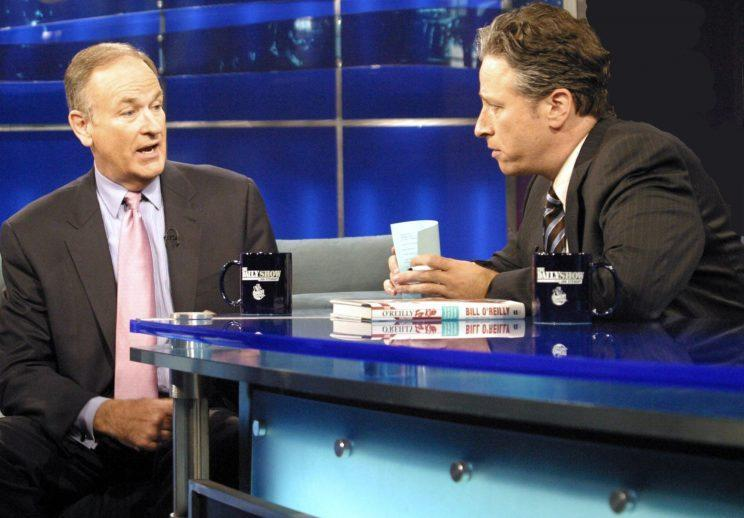Bill O'Reilly and Jon Stewart go head-to-head on Comedy Central's 'The Daily Show' (Ohoto: Conrad Mulcahy / © Comedy Central / Courtesy: Everett Collection)