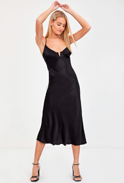 Glassons silky tie back midi dress - $47.99 down from $59.99