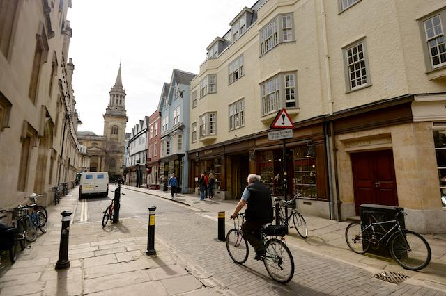 General view of Turl Street in Oxford City Centre