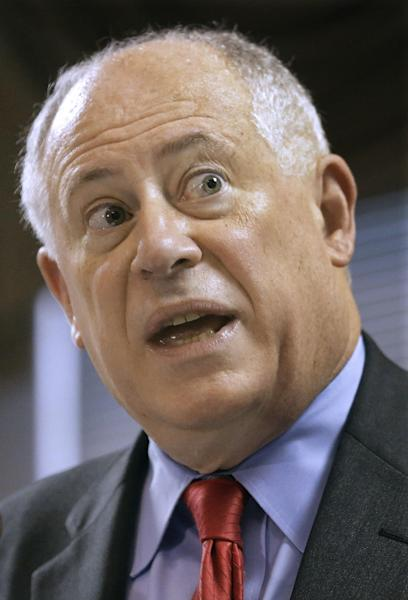 Illinois Gov. Pat Quinn says Wednesday March 13, 2013, in Springfield, Ill., he wants the state's attorney general to appeal a federal court ruling that Illinois' concealed carry ban is unconstitutional. An appeal would put the matter before the U.S. Supreme Court. Illinois is the only state with such a ban. (AP Photo/Seth Perlman)