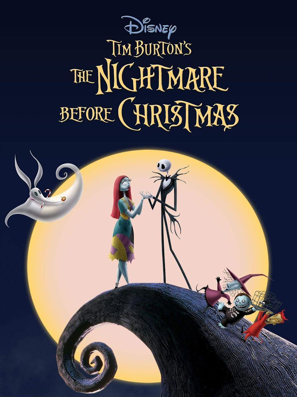 """<p>In his 1993 stop-motion film, Tim Burton blends Christmas and Halloween together in a way that's <a href=""""https://www.goodhousekeeping.com/holidays/christmas-ideas/g29994860/best-christmas-horror-movies/"""" rel=""""nofollow noopener"""" target=""""_blank"""" data-ylk=""""slk:both spooky and heartwarming all at the same time"""" class=""""link rapid-noclick-resp"""">both spooky and heartwarming all at the same time</a>.</p><p><a class=""""link rapid-noclick-resp"""" href=""""https://www.amazon.com/Tim-Burtons-Nightmare-Before-Christmas/dp/B003SI05PG/?tag=syn-yahoo-20&ascsubtag=%5Bartid%7C10055.g.1315%5Bsrc%7Cyahoo-us"""" rel=""""nofollow noopener"""" target=""""_blank"""" data-ylk=""""slk:WATCH NOW"""">WATCH NOW</a></p>"""