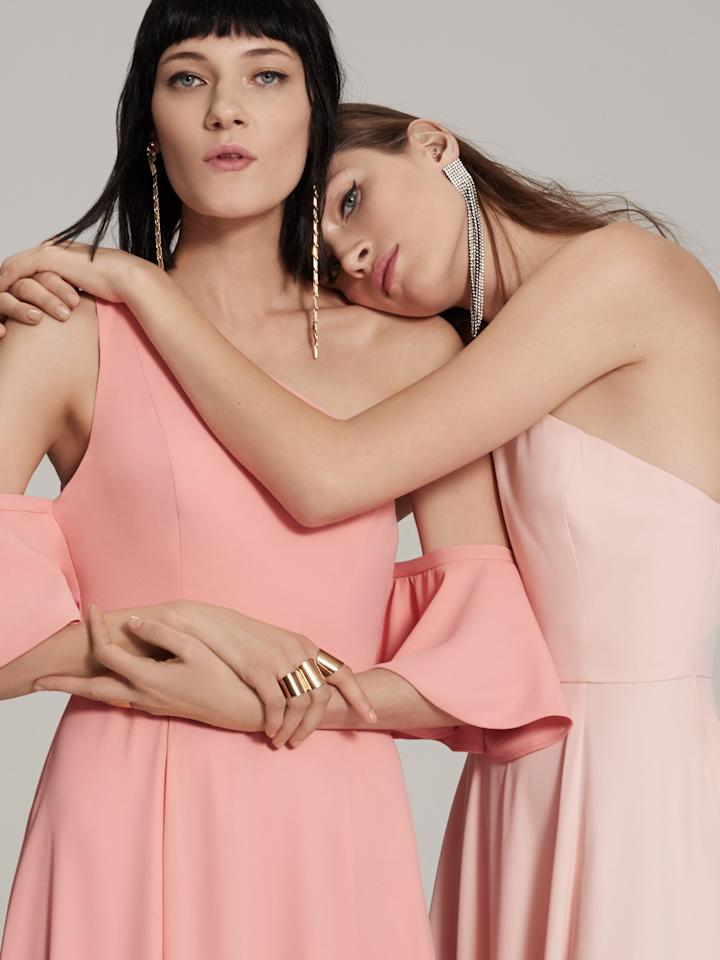 <p>From blush pink dresses to cold shoulders and bell sleeves, there will be a dress you can make your own. <i>(Photo: Courtesy of Fame and Partners)</i> </p>