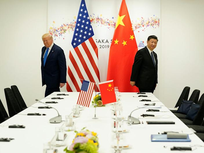 President Donald Trump attends a bilateral meeting with China's President Xi Jinping during the G20 leaders summit in Osaka, Japan, June 29, 2019.
