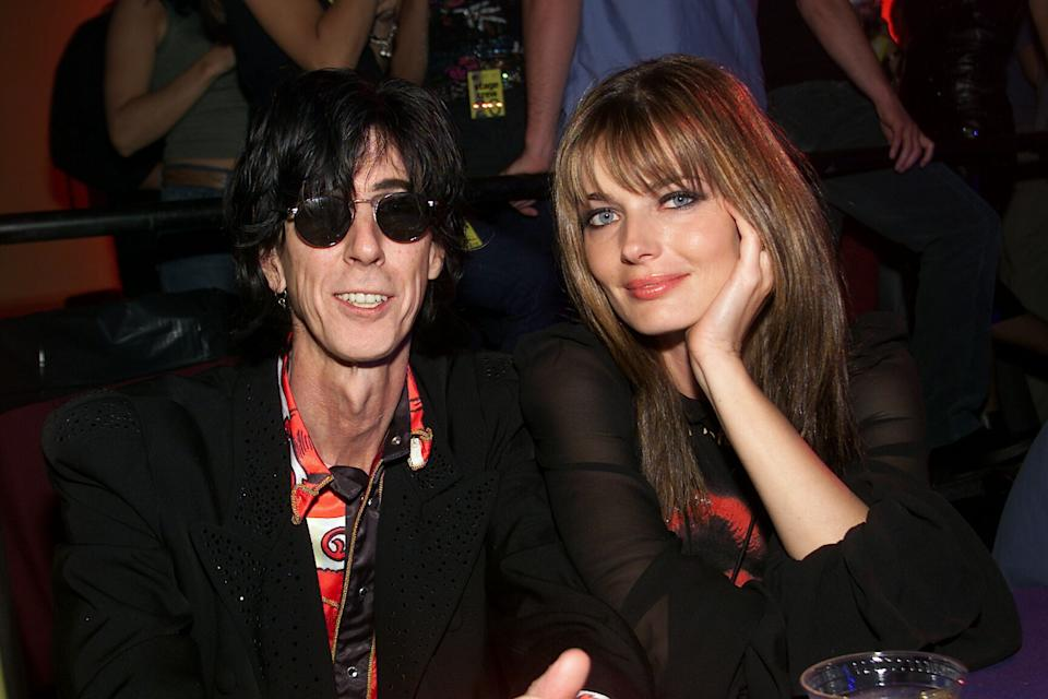 Ric Ocasek and Paulina Porizkova, pictured on & quot;  MTV20: Live and Almost Legal & quot;  fest 2001. (Photo: Evan Agostini / ImageDirect)