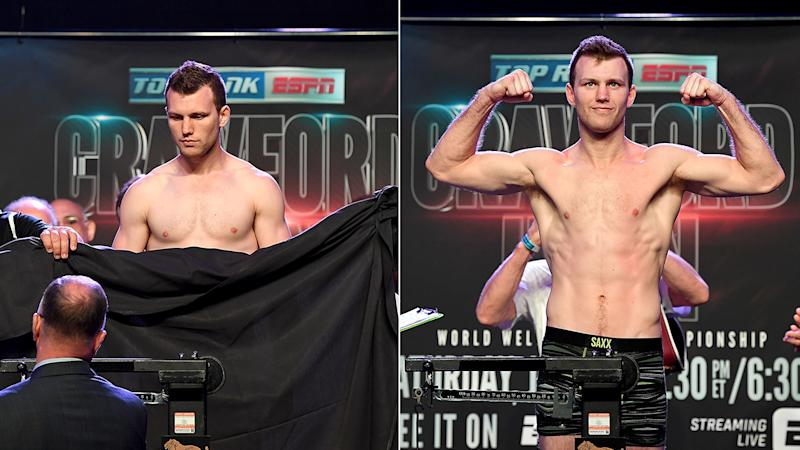 Jeff Horn, Terence Crawford make weight for welterweight title showdown