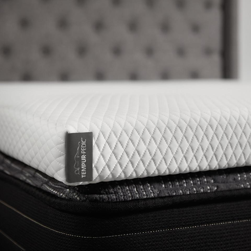 "<p><strong>Tempur-Pedic</strong></p><p>walmart.com</p><p><strong>$353.93</strong></p><p><a href=""https://go.redirectingat.com?id=74968X1596630&url=https%3A%2F%2Fwww.walmart.com%2Fip%2F131441477&sref=https%3A%2F%2Fwww.cosmopolitan.com%2Flifestyle%2Fg33341948%2Fbest-mattress-toppers%2F"" rel=""nofollow noopener"" target=""_blank"" data-ylk=""slk:Shop Now"" class=""link rapid-noclick-resp"">Shop Now</a></p><p>If you want all of the sweet, sweet squishiness of a foam mattress without feeling hot and claustrophobic, a cooling topper is definitely for you. This 2.9-inch topper provides the support, softness, and motion prevention (raise your hand if you share a bed) as Tempur-Pedic's fancy signature mattresses—but for a lot less money.</p>"