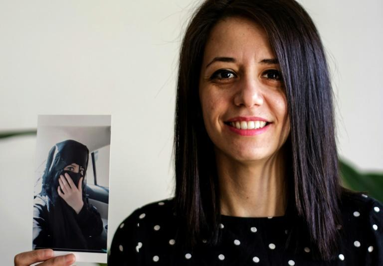 Rukaia Alabadi, 32, arrived in Paris in 2018 after escaping threats over her reporting about the reality of life in Deir Ezzor under the Islamic State jihadist group