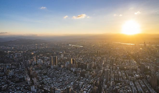 The sun sets on downtown Taipei. Taiwan's capital has been ranked at the top of the InterNations list. Photo: EPA-EFE