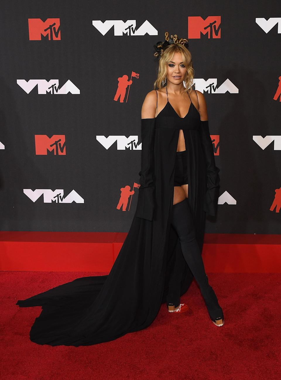 Rita Ora attends the 2021 MTV VMA's at Barclays Center in Brooklyn, New York. - Credit: Jeremy Smith/imageSPACE / MEGA