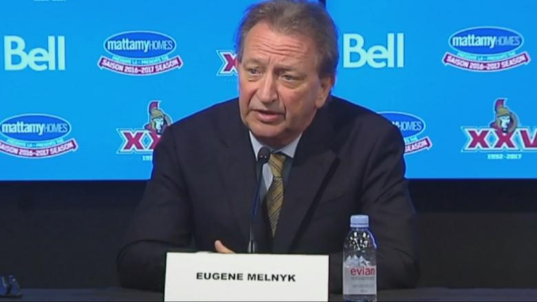 Sens fans take aim at Melnyk over downtown arena comments