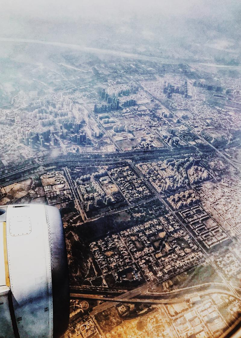 Ariel view of New Delhi