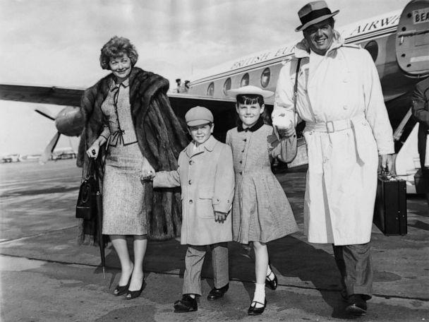 PHOTO: Lucille Ball and her husband Desi Arnaz arrive at London Airport with their children Lucie and Desi Jr., June 10, 1959. (J. Wilds/Getty Images, FILE)