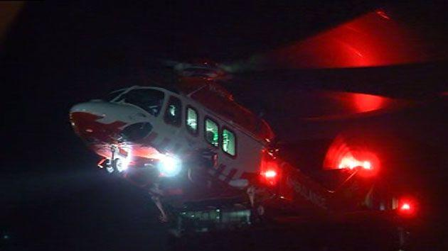 The group is believed to be a family and Ambulance Victoria received calls for help at 7:32pm and airlifted two critical patients to hospital. Photo: 7 News