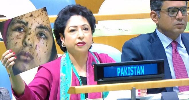 Pakistan's permanent representative to the UN Maleeha Lodhi