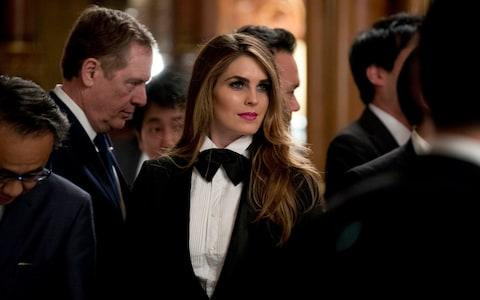 U.S. President Donald Trump's White House Director of Strategic Communications Hope Hicks - Credit: AP