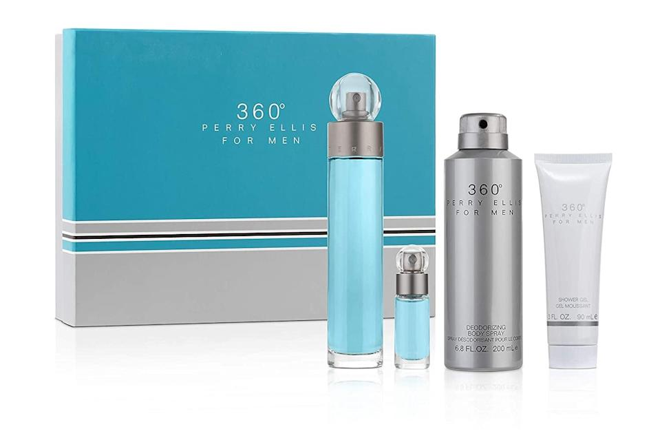 <p>He'll use this <span>Perry Ellis Fragrances Gift Set</span> ($35) every day.</p>