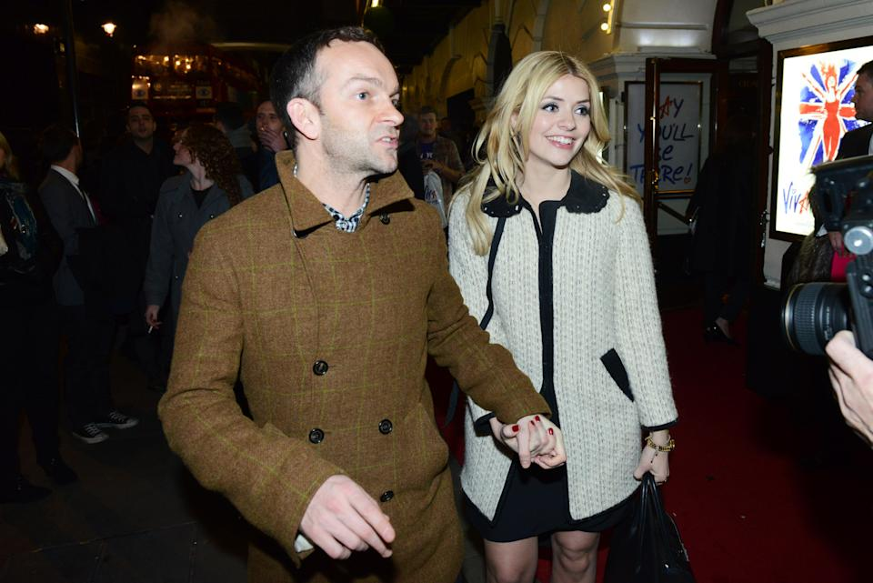 LONDON, ENGLAND - DECEMBER 11: Holly Willoughby and Dan Baldwin attend the