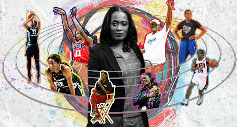 Swin Cash is a two-time NCAA and three-time WNBA champion. (Yahoo Sports illustration)
