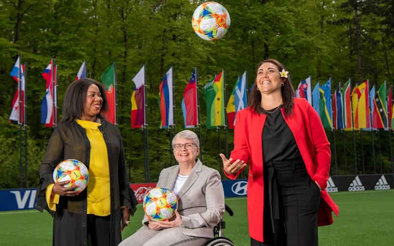 Fatma Samoura, Sarai Bareman and Joyce Cook are part of Fifa's management committee - Paul Grover for the Telegraph