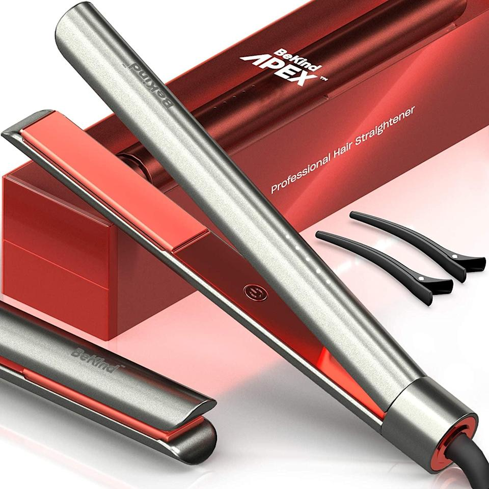 <p>The <span>Bekind Apex 2-in-1 Hair Straightener</span> ($40, originally $45) will let you straighten and curl all in one tool. It has a fast heating time of 15 seconds and has adjustable temperature settings. </p>