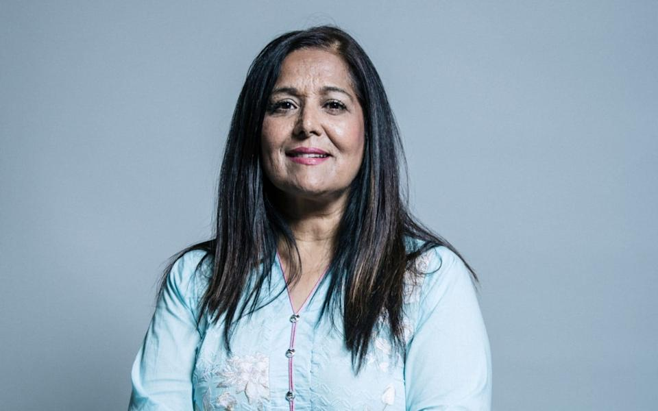 An official Parliament portrait of Yasmin Qureshi, the Labour MP who has been hospitalised after testing positive for Covid-19. - Chris McAndrew/UK Parliament