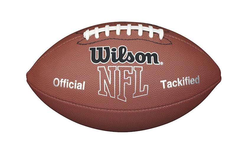 """If you don't play the actual sport you're watching, did you even really tailgate? Get it on <a href=""""https://www.amazon.com/Wilson-F1415-Football-Official-Size/dp/B000FADVPQ/ref=sr_1_3?ie=UTF8&qid=1506613989&sr=8-3&keywords=football&th=1&psc=1"""" target=""""_blank"""">Amazon</a>."""