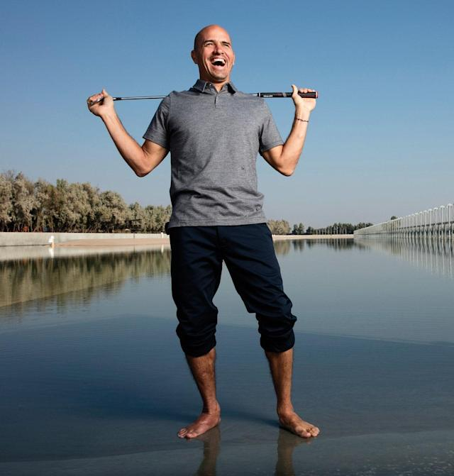 """<p><em>Kelly Slater, the World Surf League champion a record 11 times, took up golf at 23 and has played more than 150 rounds a year.</em></p> <p>""""Omaze is a cool online fundraising group. I've done three or four projects in the past with them. We've done two trips to Fiji, where we've given the winner a free trip to Tavarua. We raised quite a bit of money from that and gave it to a couple of different funds."""" – Kelly Slater</p> <p><a href=""""https://www.golfdigest.com/story/golfers-who-give-back-2018-kelly-slater-turfs-up?mbid=synd_yahoo_rss"""" rel=""""nofollow noopener"""" target=""""_blank"""" data-ylk=""""slk:Read more →"""" class=""""link rapid-noclick-resp"""">Read more →</a></p>"""