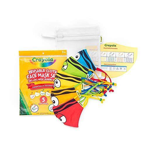 """<p><strong>Crayola</strong></p><p>amazon.com</p><p><strong>$29.99</strong></p><p><a href=""""https://www.amazon.com/dp/B08B2K8PJQ?tag=syn-yahoo-20&ascsubtag=%5Bartid%7C10055.g.32605019%5Bsrc%7Cyahoo-us"""" rel=""""nofollow noopener"""" target=""""_blank"""" data-ylk=""""slk:Shop Now"""" class=""""link rapid-noclick-resp"""">Shop Now</a></p><p>Helping your little one transform into one of their favorite school supplies for Halloween has never been easier. Our textile experts love that this set of colorful masks come with a mesh laundry bag so that you'll never lose one in the wash.</p>"""