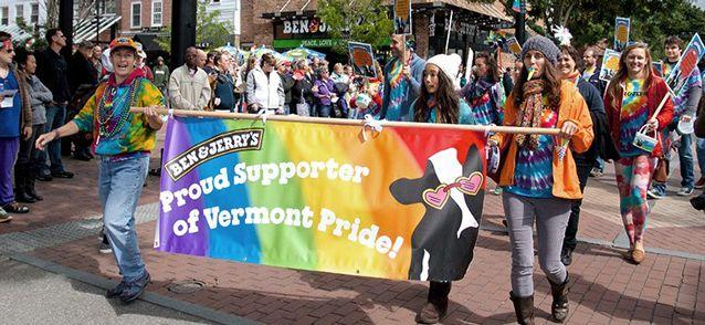 Ben & Jerry's at a gay pride march in Vermont. Source: Supplied