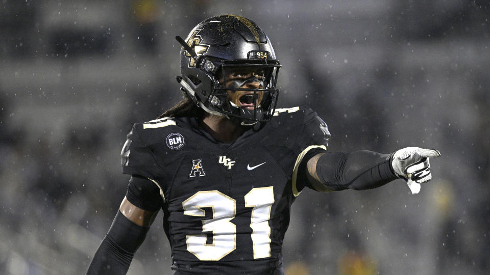Central Florida defensive back Aaron Robinson is a fun prospect to watch. (AP Photo/Phelan M. Ebenhack)