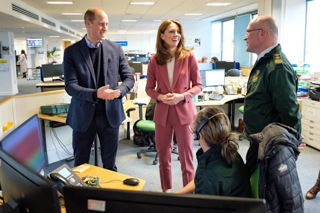 William and Kate visited the call centre in Croydon to meet 111 call handlers. (Kensington Royal)