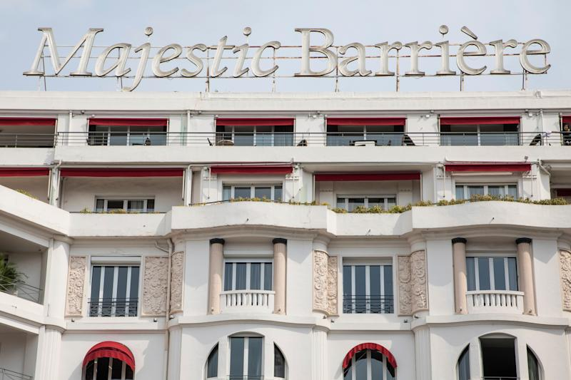 A view of the Majestic Barriere Hotel as seen from the Croisette at the 71st international film festival, Cannes, southern France, Monday, May 7, 2018. (Photo by Vianney Le Caer/Invision/AP)