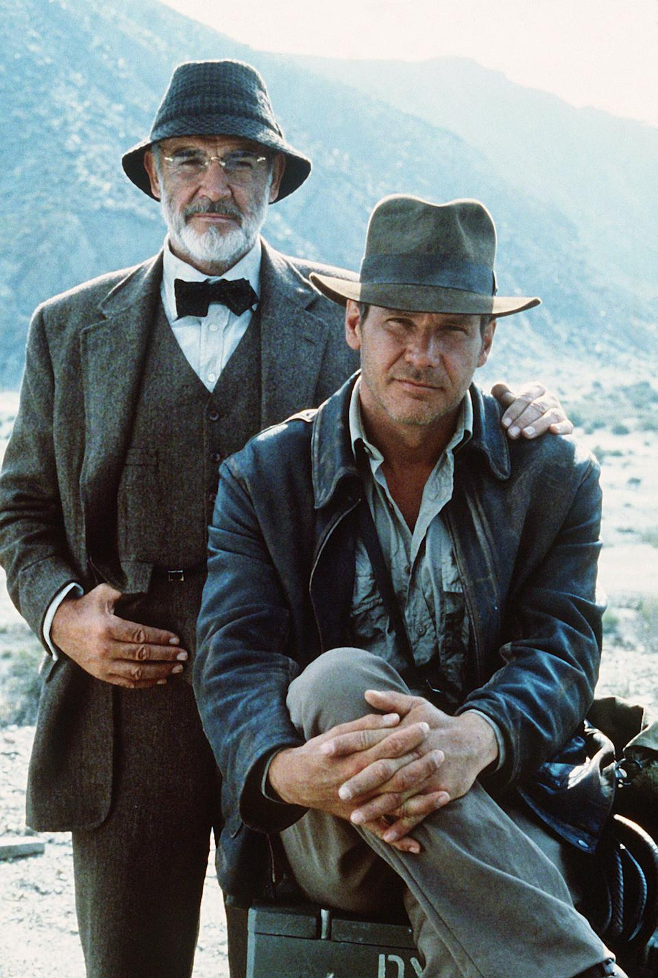 With his Indiana Jones co-star Harrison Ford (Photo: Rex)