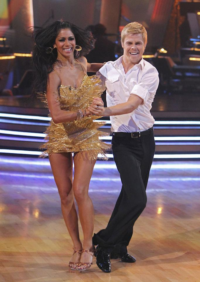 "Derek Hough and Nicole Scherzinger on the finale of ""Dancing with the Stars."""