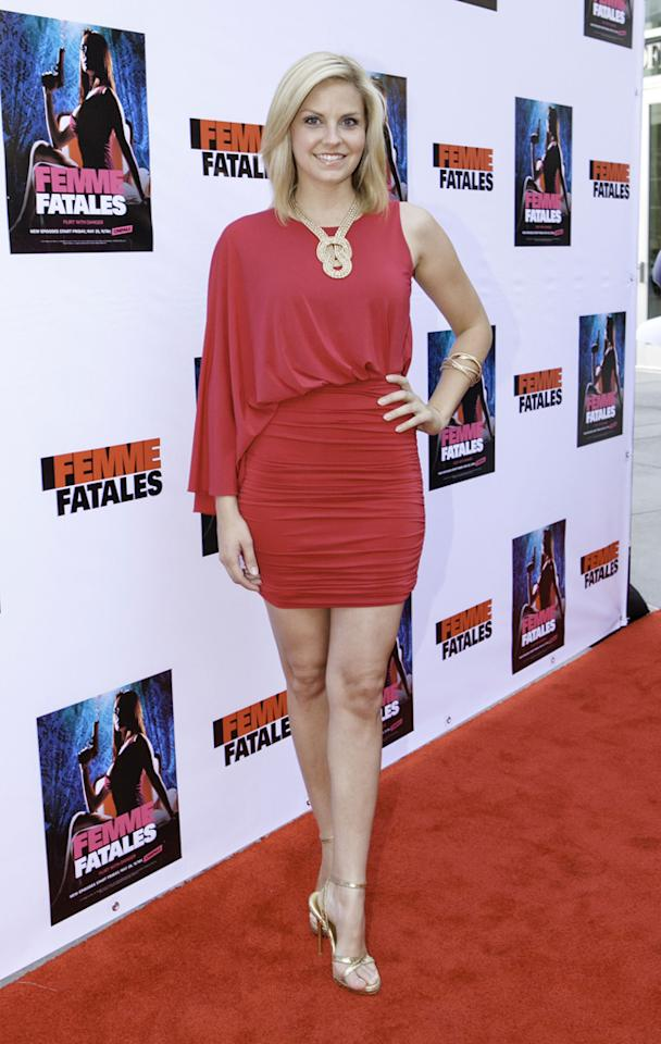"Nikki Griffin attends Cinemax's New Series ""Femme Fatales"" - Cast & Crew Screening at ArcLight Hollywood on May 21, 2012 in Hollywood, California."