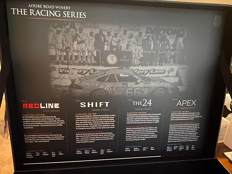 Learn More About The Racing Series Wines