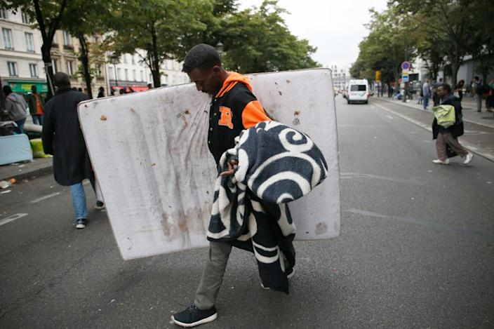 France has an acute shortage of accommodation for asylum seekers, leaving many people to fend for themselves (AFP Photo/Matthieu Alexandre)