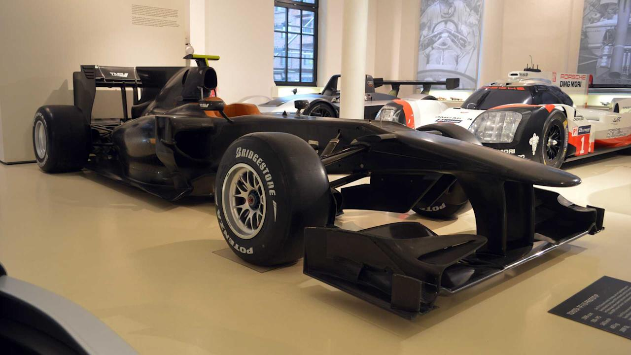 "<p>The Toyota TF110 was a car built by the Japanese manufacturer's German-based motorsports arm, intended to compete in the 2010 Formula 1 season.</p> <p>However, with Toyota exiting F1 at the end of 2009 owing to the global financial crisis and a lack of success after years of trying, the car never saw the track. Whether it would have delivered Toyota its first Grand Prix win will always be a mystery, but it was expected to be a frontrunner had it competed in the 2010 season.</p><h2>More motoring museums</h2><ul><li><a href=""https://uk.motor1.com/news/251681/mercedes-museum-stuttgart-merc-paradise/?utm_campaign=yahoo-feed"">The Mercedes Museum in Stuttgart is a Merc lovers paradise</a></li><br><li><a href=""https://uk.motor1.com/features/237276/car-museum-plans-cotswolds/?utm_campaign=yahoo-feed"">A world-leading car museum is being planned for the Cotswolds</a></li><br></ul>"