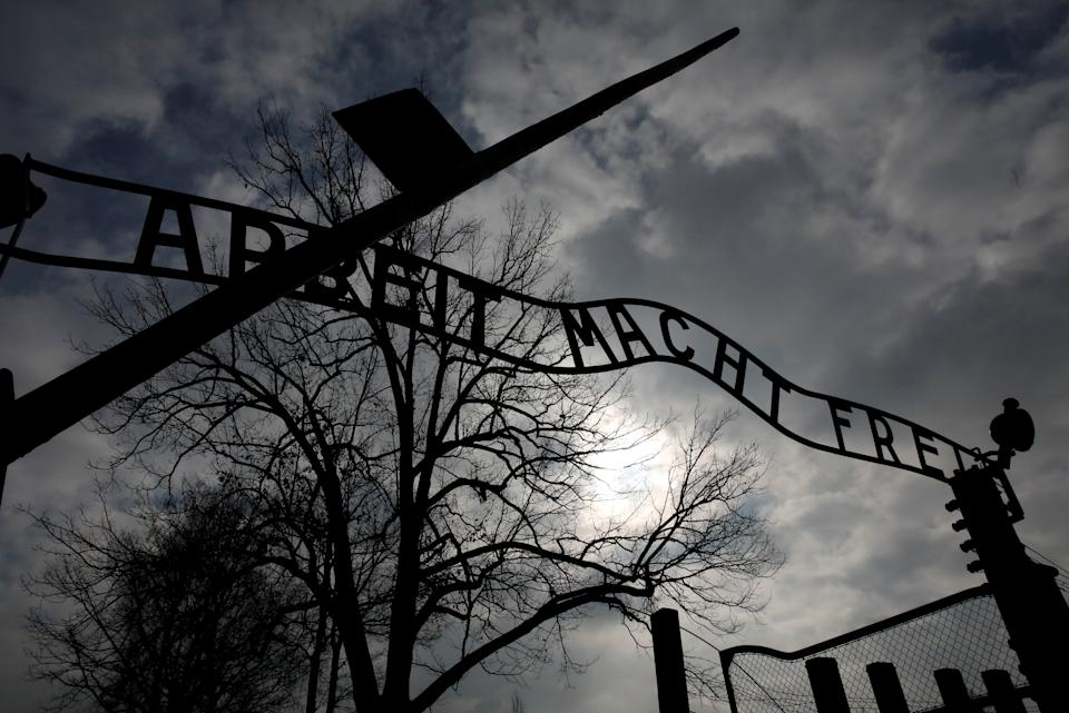 "The ""Arbeit Macht Frei"" gate is seen at the former Nazi German concentration and extermination camp Auschwitz in Oswiecim, Poland, February 15, 2019. REUTERS/Kacper Pempel"