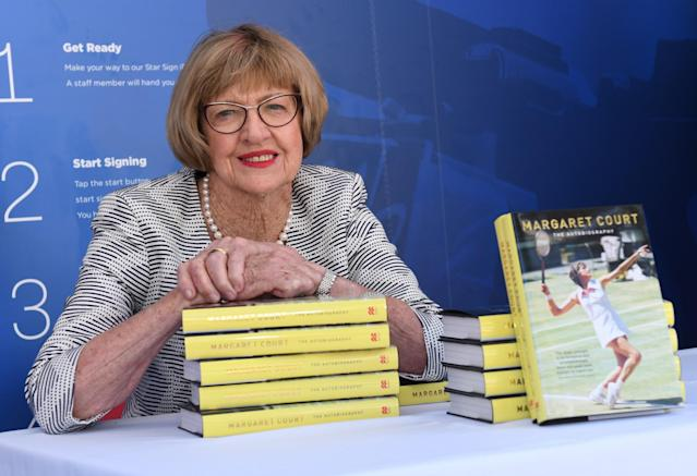 Former tennis great Margaret Court recently spoke out against gay marriage. (Getty Images)