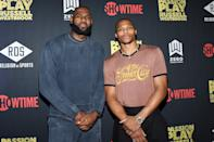 <p>LeBron James supports teammate Russell Westbrook at the premiere of <em>Passion Play: Russell Westbrook</em> at iPic Theaters on Oct. 11 in L.A.</p>